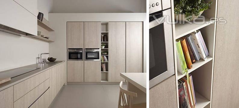 Foto mobiliario de cocina dica modelo serie 45 roble for Muebles de cocina dica
