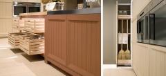 Detalle mobiliario de cocina dica modelo arkadia natural con terracota