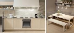 Mobiliario de cocina dica modelo arkadia blanco nata con azul