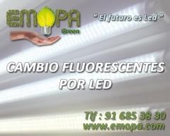 cambiar fluorescentes por leds madrid