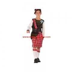 Disfraz de escoces de chico