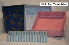 Vaciabolsillos artesanales y manuales de cartón entelado. encargos en diferentes telas.