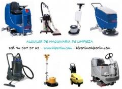 Alquiler maquinaria de limpieza, alquiler fregadora, alquiler abrillantadora, alquiler aspirador etc