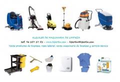 Venta y alquiler de maquinaria de limpieza, productos de limpieza, vestuario laboral y servicio t�cn