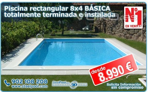 Steel pool c diz for Piscina 8x4