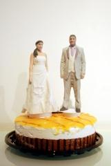 Ponte en tu tarta foto-esculturas figuras de novios vestidos de boda para tarta nupcial 3d-u
