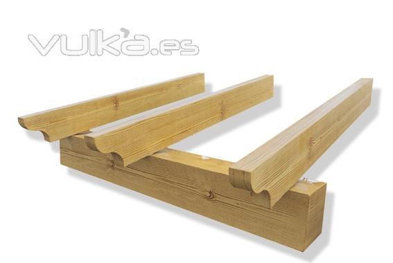 Foto vigas imitaci n madera varios colores - Vigas decorativas imitacion madera ...