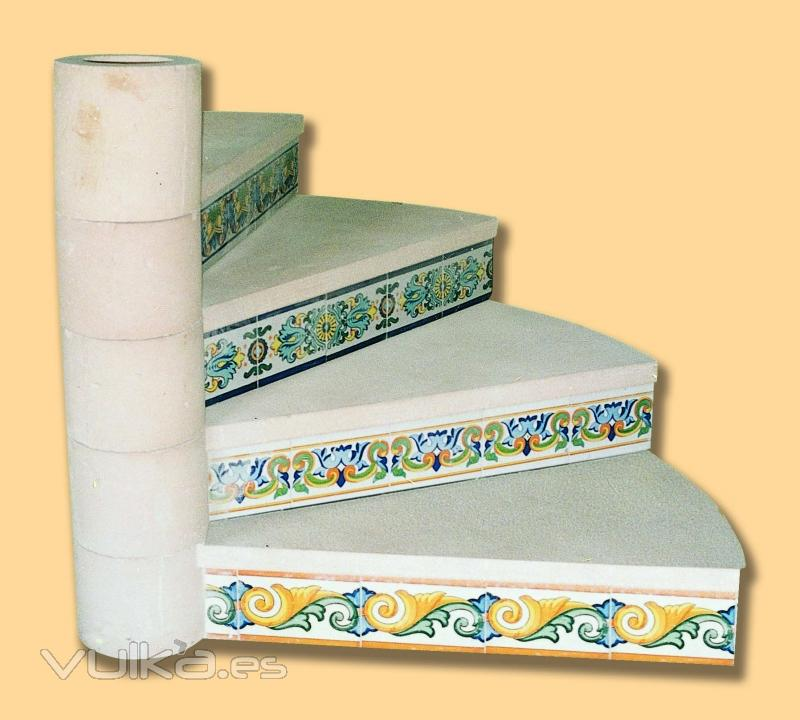 Foto escalera de caracol prefabricadas en piedra artificial for Escaleras de caracol prefabricadas
