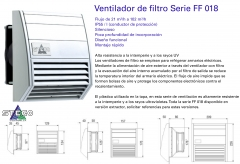 Ventiladores de filtro ff 018, que se caracterizan por su versatilidad y elevado caudal de aire