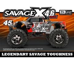Monster truck hpi savage x v4.6 (rojo/gris) (rtr 2.4ghz) 1:8 hpi
