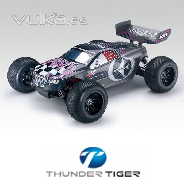 Coche Sparrowhawk XXT 1:10 Brushless 2.4 Ghz Thunder Tiger gris
