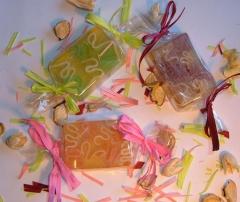 Jabones naturales con forma de caramelos