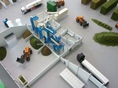 Maqueta. maqueta arquitectura. maqueta industrial nave procesamiento piensos