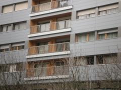 Detalle de rehabilitaci�n energ�tica de fachada de edificio privado (fachada ventilada)