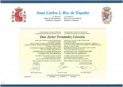Quirino & brokers - titulo universitario de javier fernández carreira