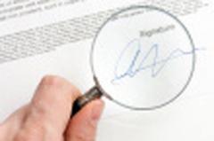 Falsificaci�n de firmas