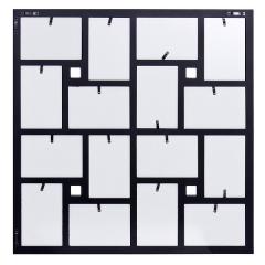Portafotos multiple devinci negro cuadrado 10x15 16 fotos en la llimona home (1)