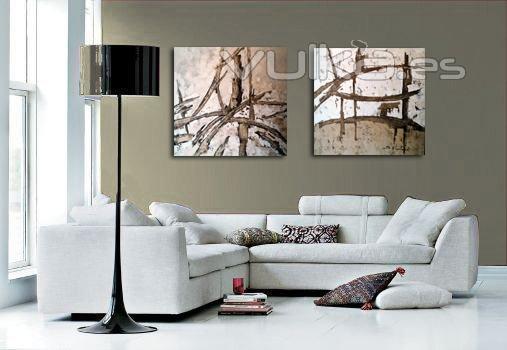 Foto cuadros modernos pintados amano con esmaltes sobre for Cuadros de decoracion baratos