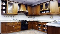 Cocina cl�sica de madera natural