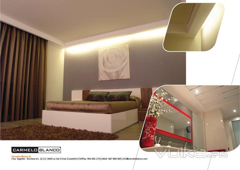 Foto tabiqueria y techos de placa de yeso laminado luz indirecta - Luz indirecta led ...