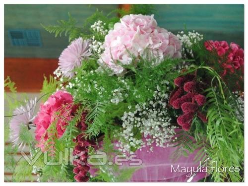 Foto espectacular decoraci n de banquete con hortensias - Decoracion con hortensias ...