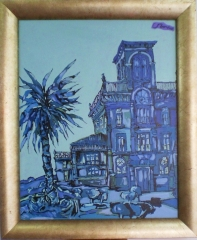 �leo s/lienzo - vicente roura - 92 x 73 - 600 eur (650 eur enmarcado)