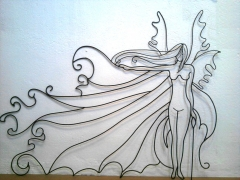Mural de forja artistica serie elemental natura mod ninfa 3
