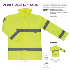 Parka reflectante