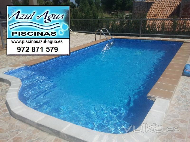 Foto piscina con revestimiento de liners - Revestimientos de piscinas ...