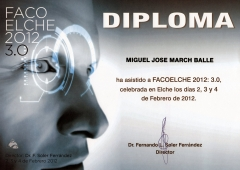 Diploma reuni�n facoelche 2012: 3.0 (febrero 2012, elche).