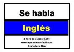Clases de inglés 1 hr / 4,50 eur