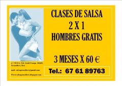 Clases de salsa  2 x 1 - 3 meses - 60eur - granollers