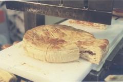 Corte ultrasonidos hojaldre, pasteles rellenos de carne, empanadas gallegas...etc