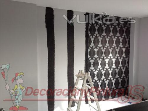 Decoracion y pintura madrid madrid - Decoracion con papel pintado y pintura ...