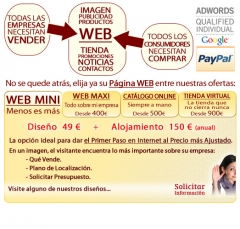 Castell�n - 199 euros� DISE�O WEB ECON�MICA dise�o personalizado con DOMINIO, HOSTING Y EMAILS