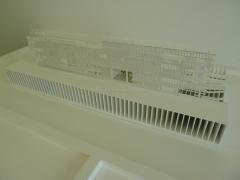 Maqueta arquitectura. maqueta t�cnica. maqueta proyecto final carrera navarra. maqueta pfc frontal