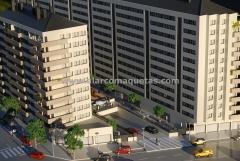 Maqueta arquitectura comercial proyecto viviendas en ponferrada. maquetas castilla 9