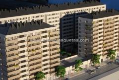 Maqueta arquitectura comercial proyecto viviendas en ponferrada. maquetas castilla 7