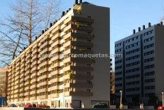 Maqueta arquitectura comercial proyecto viviendas en ponferrada. maquetas castilla 4