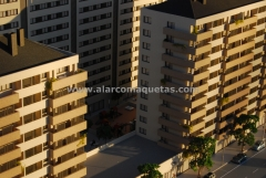Maqueta arquitectura comercial proyecto viviendas en ponferrada. maquetas castilla