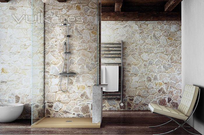 Armarios De Baño Fiora:Foto: Plato de ducha Fiora Silex modelo Enmarcado a medida