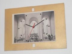 Reloj de cuarzo de imágen din a4, plantilla horaria fusionada en imágen.  42x30 cm.