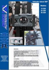 Cabezales giratorios 180�  volteadores, ligeros, resistentes, gran visibilidad