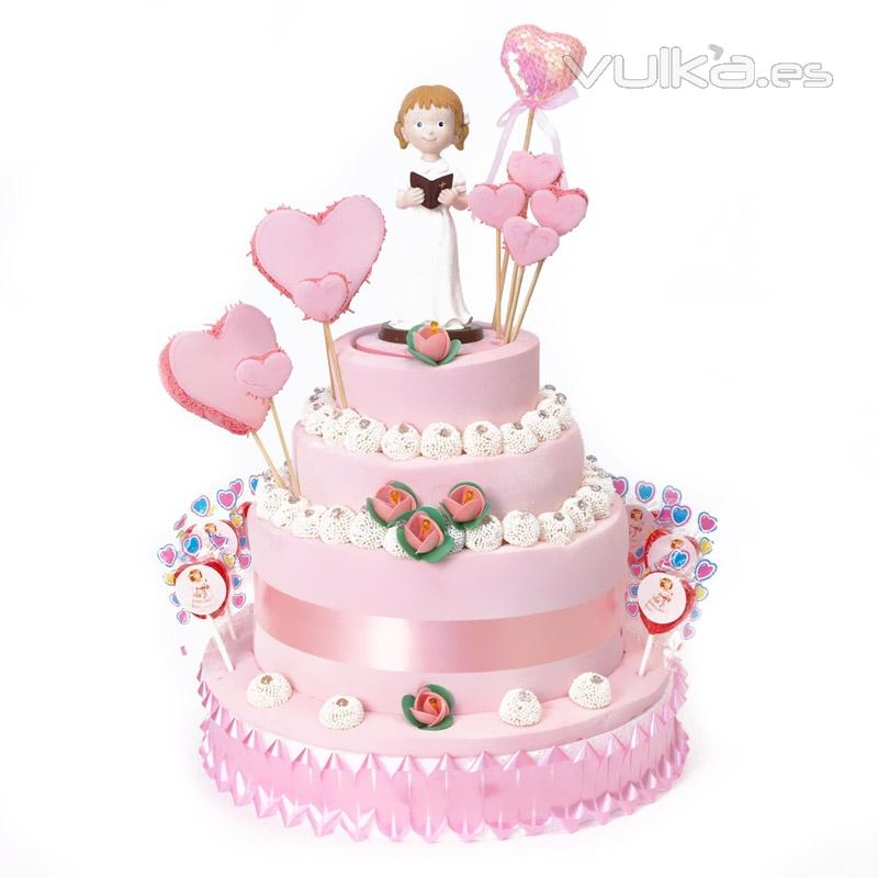 tarta de chuches niña dek primera comunión