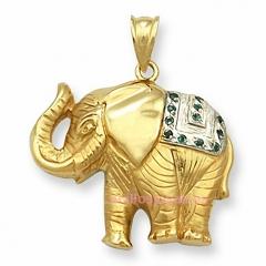 Colgantes de oro de ley elefante de la suerte. http://anillosjoyas.es
