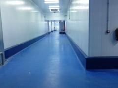 Pavimento pasillos de rodadura empresa de congelados
