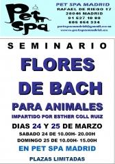 SEMINARIO FLORES DE BACH EN PET SPA MADRID -MARZO2012