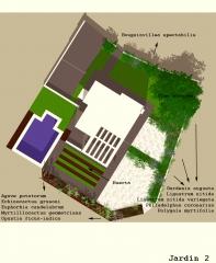 botanic cullera - plano proyecto jardin unifamiliar Montserrat (Valencia)