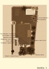 botanic cullera - plano proyecto jardin unifamiliar Urb. Sierramar Benifay� (Valencia)