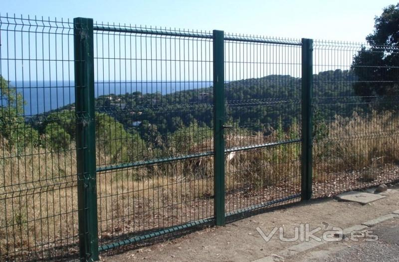 Foto valla metalica panel plegado - Valla metalica precio ...
